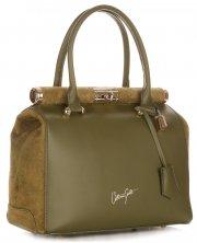 Kožené kabelky kufříky VITTORIA GOTTI Zelená