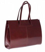 Kožená kabelka aktovka A4 Genuine Leather hnědá