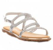 Elegantní dámské sandály stříbrné