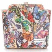 Listonoszki Skórzane Vittoria Gotti w Motyle Multikolor Beżowa