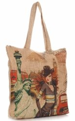 Torebka Damska Shopper Multikolor New York