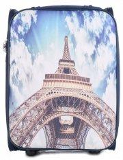 Walizka Kabinówka Włokiej Firmy Or&Mi 2 kółka Granatowa Paris
