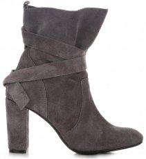 Kožené Dámské boty šedé