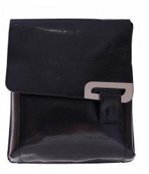 Kožené kabelky listonošky černá