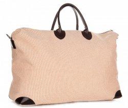 Univerzální Cestovní taška XXL Vera Pelle béžová a oranžová