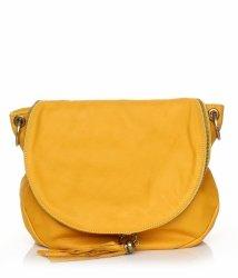 Dámská kožená kabelka listonoška – vysoká kvalita žlutá