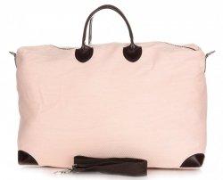 Univerzální Cestovní taška XXL Vera Pelle růžová a béžová