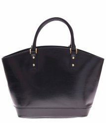 Módní kožené tašky typu Shopper bag lodička černá