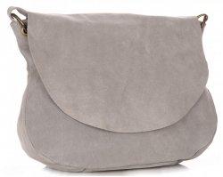 Univerzální kožená kabelka listonoška na každý den Světle šedá