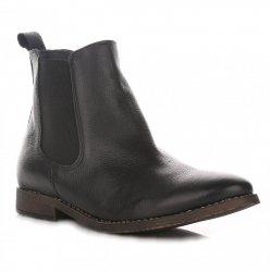 Kožené Dámské boty černé