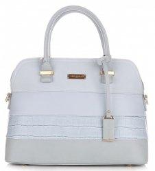 Dámská kabelka kufřík DAVID JONES světle modrá