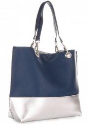 Módní Dámské kabelky David Jones Shopper XL s Etui Tmavě modrá