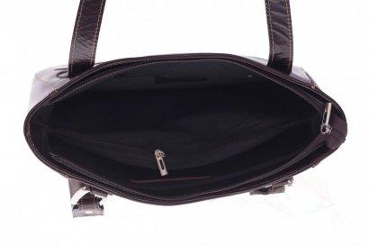 Univerzální kožená kabelka na denní nošení čokoláda ...
