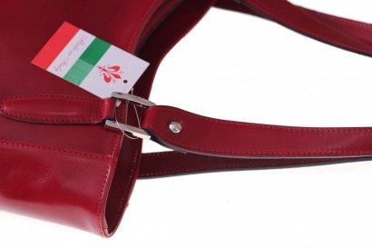 Univerzální kožená kabelka na denní nošení červená ...
