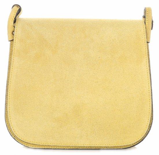 Listonoszka Skórzana Genuine Leather Żółta