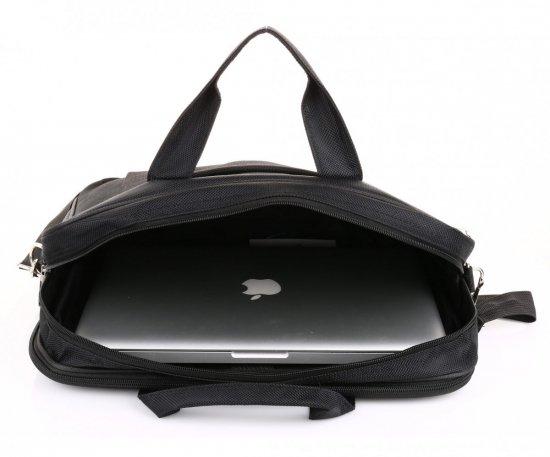 "Firmowa Torba na Laptop David Jones 15,6"" Czarna"