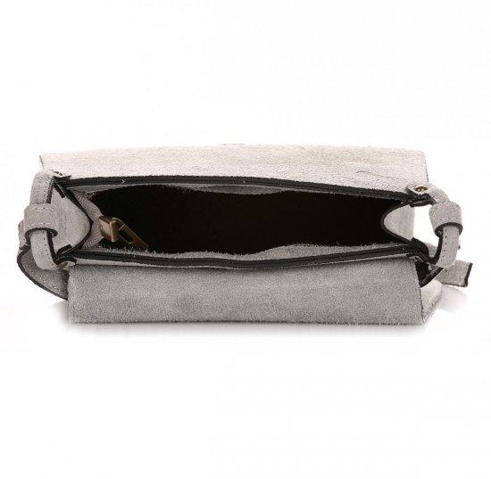 Listonoszka Skórzana Genuine Leather Jasno Szara