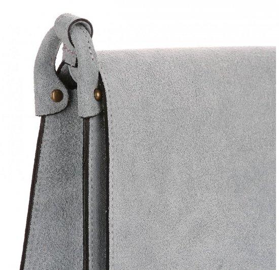 Listonoszka Skórzana Genuine Leather Błękitna
