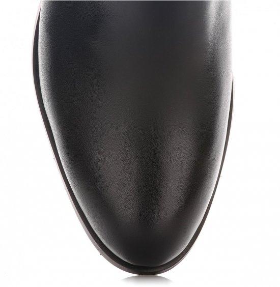Klasyczne Skórzane Botki Damskie Alexio Giorgio Czarne
