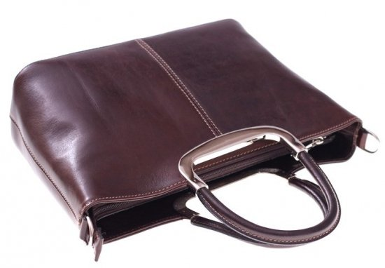Torebka skórzana Klasyczna genuine leather Czekolada