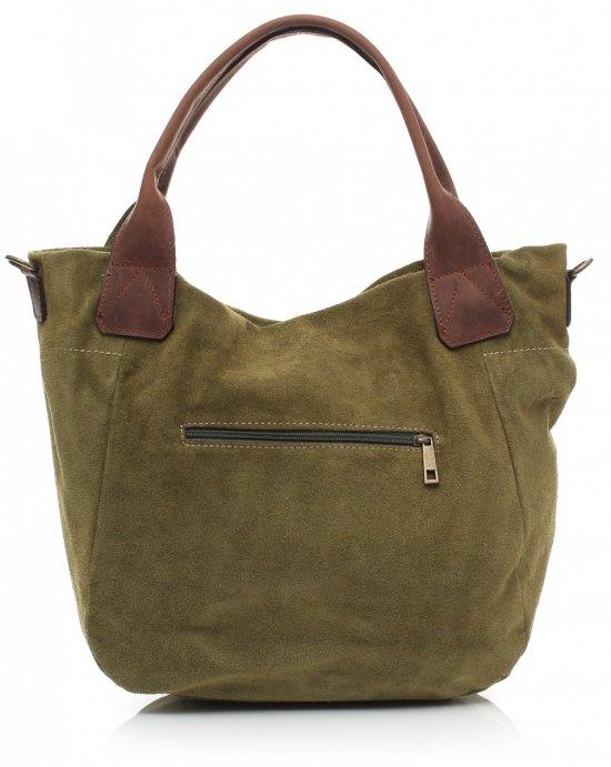 Uniwersalna torebka skórzana zielona