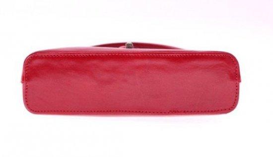 Torebki skórzane klasyczne i eleganckie Czerwona