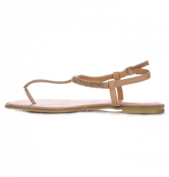 Eleganckie Sandały Damskie Beżowe