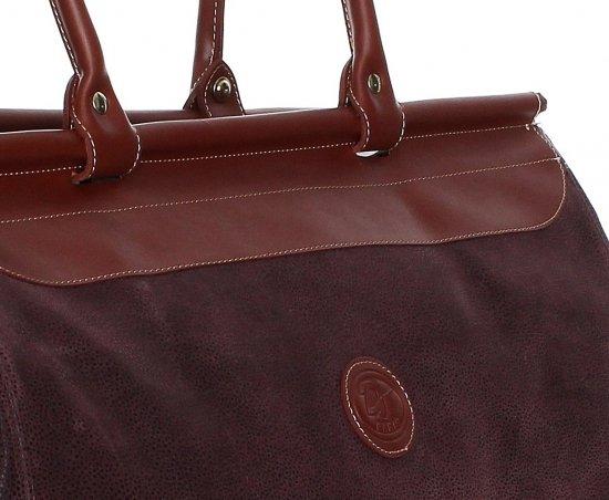 Solidna torba podróżna David jones Bordowa