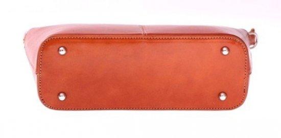 Torebka skórzana Klasyczna Genuine Leather Ruda