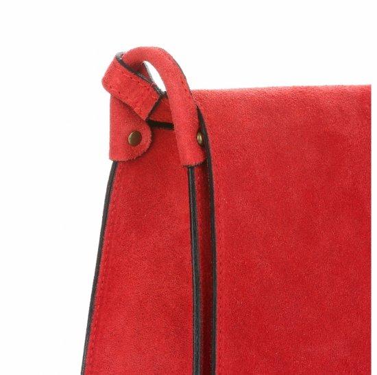 Listonoszka Skórzana Genuine Leather Czerwona