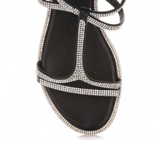 Eleganckie Sandały Damskie Czarne