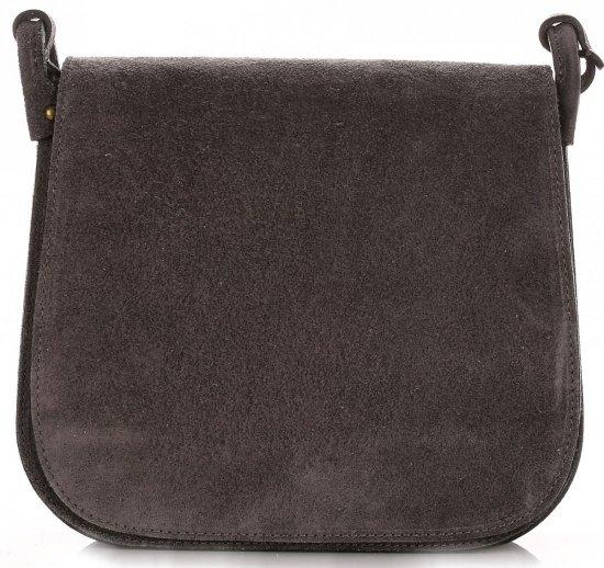 Listonoszka Skórzana Genuine Leather Szara
