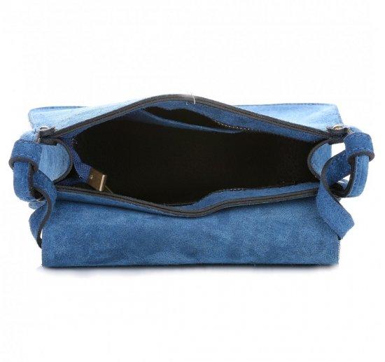 Listonoszka Skórzana Genuine Leather Niebieska