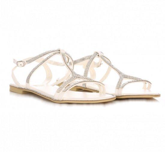 Eleganckie Sandały Damskie Białe