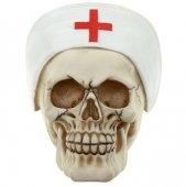 Czaszka Pielęgniarka w czepku - figurka
