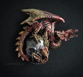 Czerwony Smok z Czaszką - magnes