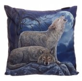 Dwa Wilki - poduszka dekoracyjna projekt: Lisa Parker