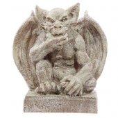 duża figura dekoracyjna Zamyślony Gargulec jasny