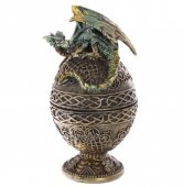 szkatułka Jajo z Zielonym Smokiem