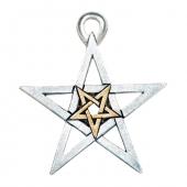 Podwójny Pentagram, seria: Pentagramy - naszyjnik