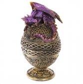 szkatułka Jajo z Fioletowym Smokiem