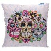 Meksykańskie Cukrowe Czaszki - poduszka dekoracyjna
