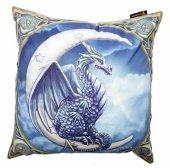 Błękitny Smok i Księżyc - poduszka dekoracyjna projekt: Lisa Parker
