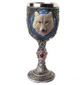 Wilczy Kielich - puchar dekoracyjny z wilkiem