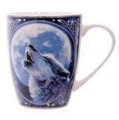 Wilk wyjący do księżyca - porcelanowy kubek z nadrukiem