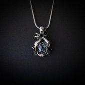 Czarna Róża - obsydian śnieżny, naszyjnik
