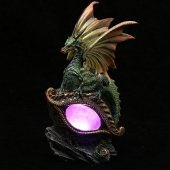 Dragon Eye - figurka zielonego smoka z lampką LED