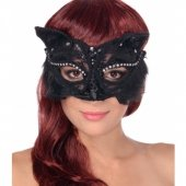 Kot - maska karnawałowa koronkowa