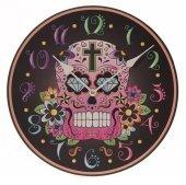 zegar - Meksykańska Cukrowa Czaszka