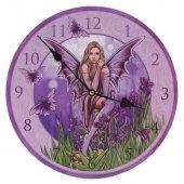 Elf wśród Fioletowych Irysów - zegar ścienny